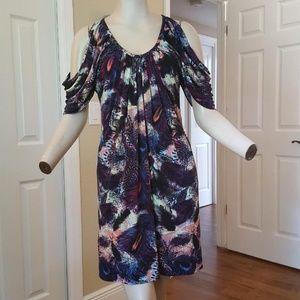 Boston Proper Slinky Cold Shoulder Dress S - M
